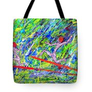Two Flying Surfers Two K O Nine Tote Bag