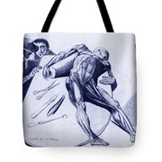 Two Gentlemen Contemplating A Cadaver Tote Bag