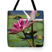 Two Graceful Water Lilies Tote Bag
