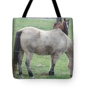 Two Horses Up Front Tote Bag