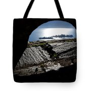 Two Islands On A Lake With A Arch Tote Bag