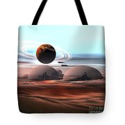 Two Jet Aircraft Fly Over Dome Tote Bag