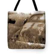 Two Old Rear Ends-sepia Tote Bag