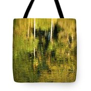 Two Palms Reflected In Water Tote Bag