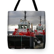 Two Red Tugs Tote Bag