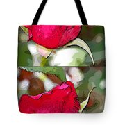 Two Rose Buds Tote Bag