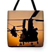 Two Royal Air Force Ch-47 Chinooks Take Tote Bag