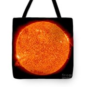 Two Solar Prominences Erupt Tote Bag