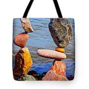 Two Stacks Of Balanced Rocks Tote Bag