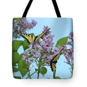 Two Swallowtails Tote Bag