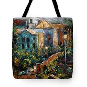 Two Village Lamps Tote Bag