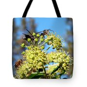 Two Wasps And A Bee Tote Bag