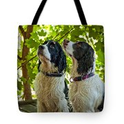Two Wet Puppies Tote Bag