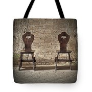 Two Wooden Chairs Tote Bag