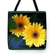 Two Yellow Dahlias Tote Bag