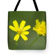 Two Yellow Flowers Tote Bag