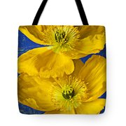 Two Yellow Iceland Poppies Tote Bag