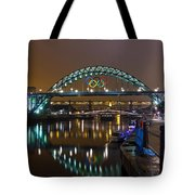 Tyne Bridge At Night Tote Bag