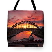 Tyne Bridges At Sunrise IIi Tote Bag