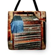 Type Case With Denim Apron Tote Bag