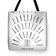 Types Of Screws, C1885 Tote Bag