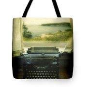 Typewriter By Window Tote Bag