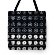 Typewriter Keyboard Tote Bag by Hakon Soreide