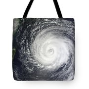 Typhoon Muifa East Of Taiwan Tote Bag