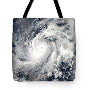 Typhoon Sanba Over The Pacific Ocean Tote Bag