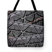 Tyres Stacked With Focus Depth Tote Bag