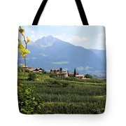 Tyrolean Alps And Vineyard Tote Bag