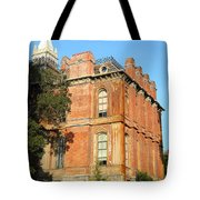 Uc Berkeley . South Hall . Oldest Building At Uc Berkeley . Built 1873 . The Campanile In The Back Tote Bag