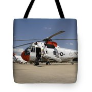 Uh-3h Sea King Helicopters Based Tote Bag