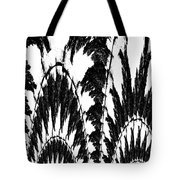Undefined Black Lace Tote Bag