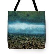 Under An Ocean Wave Tote Bag
