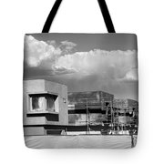 Under Construction Bw Palm Springs Tote Bag
