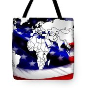 Under Protection Map Tote Bag