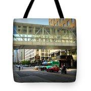 Under The Skywalk - Street Lamp Tote Bag