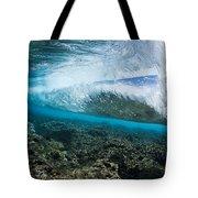 Underwater Wave Tote Bag