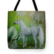 Unicorn And Lilies Tote Bag