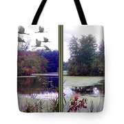 Unicorn Lake - Cross Your Eyes And Focus On The Middle Image Tote Bag