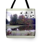 Unicorn Lake - Geese Tote Bag