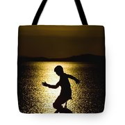 Unicycling Silhouette Tote Bag