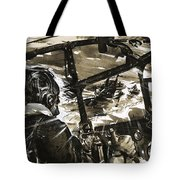 Unidentified Aircraft Diving To Attack A Ship  Tote Bag