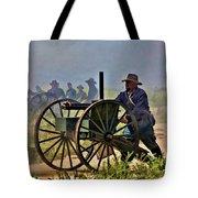 Union Gatling Gun Fire Tote Bag