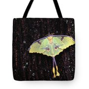 Unique Butterfly Resting On Tree Bark Tote Bag