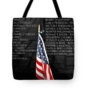 Unspoken Words On A Shiny Wall Tote Bag