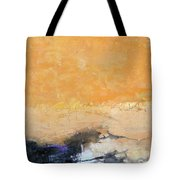 Untitled Abstract - Amber Peach  With Violet Tote Bag