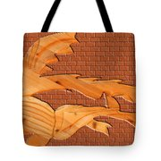 Up Against A Brick Wall Tote Bag