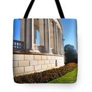 Upclose Of Arlington Memorial Amphitheater Tote Bag